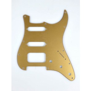Fender Genuine Replacement Part pickguard Standard Strat HSS 11 screw holes gold metallic