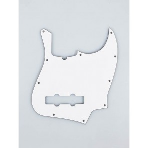 Fender Genuine Replacement Part pickguard Standard Jazz Bass 10 screw holes 3- ply with truss rod notch white