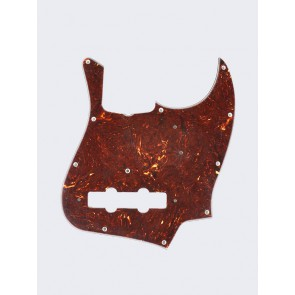 Fender Genuine Replacement Part pickguard '62 Jazz Bass 11 screw holes 4-ply with truss rod notch tortoise shell