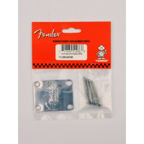 Fender Genuine Replacement Part neck plate American Series for bass Fender Corona logo chrome