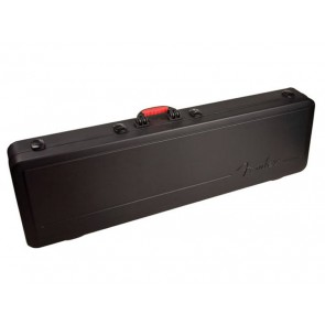 Fender ABS molded case for bass guitar with rubber over-molded handle and TSA latching system