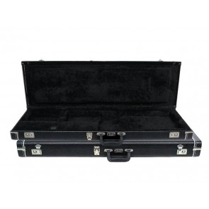 Fender deluxe case for Mustang/Jag-stang/Cyclone leather handle and ends black tolex & black interior