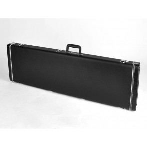 Fender deluxe case for Precision Bass leather handle and ends black tolex & black interior lefthanded