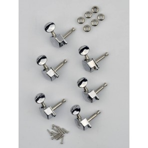 Squier Genuine Replacement Part machine heads closed back with diamond shaped covers Affinity Strat '99-'06 chrome set of 6