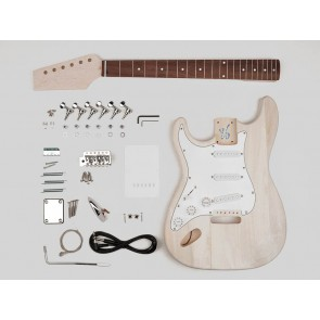 Guitar assembly kit, Strat model, basswood body, 21 frets, lefthanded