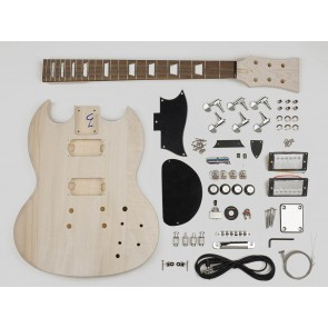 Guitar assembly kit, Second Gear model, basswood body, 22 frets, bolt-on neck