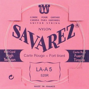 Savarez A-5-snaar, silverplated nylon (rouge), sluit aan bij 520-R set, hard tension