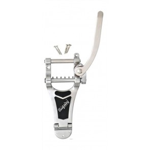 Bigsby vibrato tailpiece kit, for archtop solid body guitars, chrome