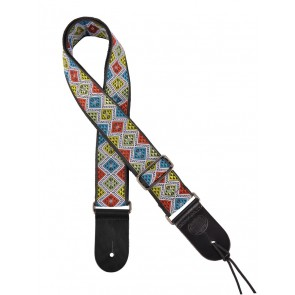 "Gaucho Traditional Series guitar strap, 2"" jacquard weave, multi colours"