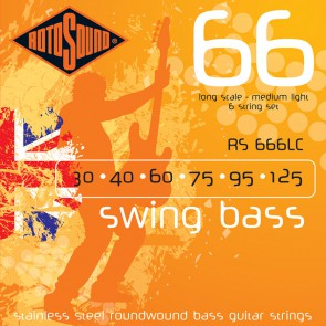 Rotosound Swing Bass 66 snarenset basgitaar, 6-snarig, stainless steel, 30-125, medium light gauge