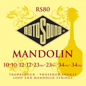Rotosound Traditional Instruments snarenset mandoline, phospor bronze, loop end
