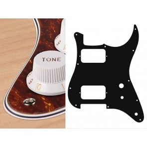 Pickguard Strat, HH, 2 pot holes, toggle switch, 4 ply, tortoise