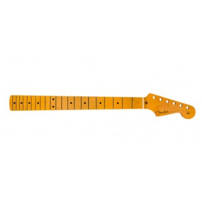 Fender Genuine Replacement Part 50's Stratocaster neck, 21 vintage frets, maple fb, soft V-shape, amber lacquered