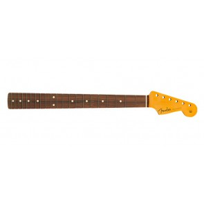 Fender Genuine Replacement Part 60's Stratocaster neck, 21 medium jumbo frets, pau ferro fb, C-shape, amber lacquered