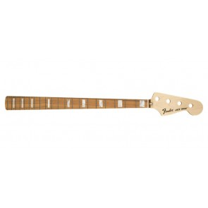 Fender Genuine Replacement Part 70's Jazz Bass neck, 20 medium jumbo frets, block inlay, pau ferro fb