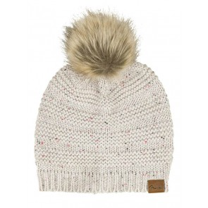 Fender Clothing Headwear leather patch pom pom beanie, tan