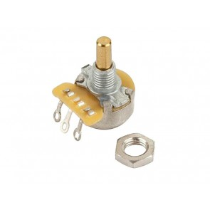 "Fender Genuine Replacement Part 1 MEG mini potentiometer, .375"" length bushing, solid shaft"