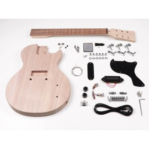 Guitar assembly kit, LP Pro Jr model mahogany slab body, mahogany bolt-on neck 1 x P-90
