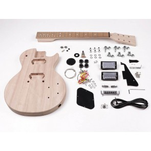 Guitar assembly kit, Launcher Pro model, basswood body, 22 frets, bolt-on neck