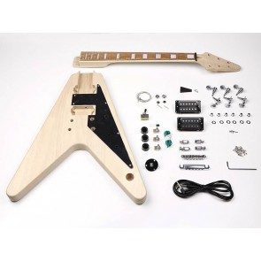 Guitar assembly kit, FV-model, mahogany body, mahogany set neck, pauferro f
