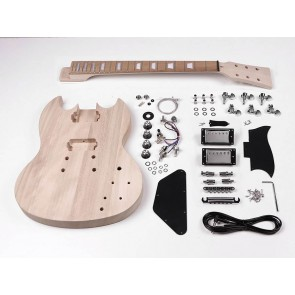 Guitar assembly kit, SG model, basswood body, 22 frets, bolt-on neck