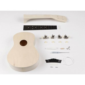 Ukulele kit, basswood body, catawba neck, abs fingerboard and bridge