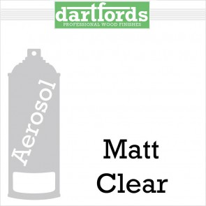 Dartfords Nitrocellulose Lacquer Matt Clear - 400ml aerosol