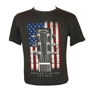 Martin T-shirt American Flag charcoal - size S