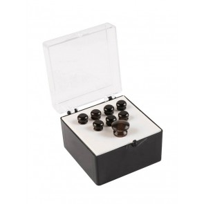 Martin pin set (7 bridge pins plus 1 end pin) plain ebony wood