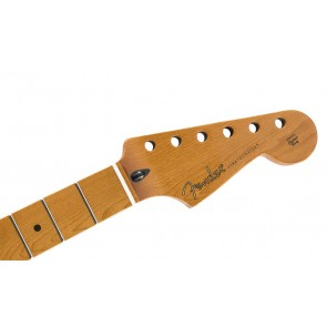 """Fender Genuine Replacement Part roasted maple Stratocaster  neck, 22 jumbo frets, 12"""", maple, flat oval shape"""