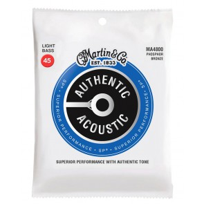 Martin Authentic Acoustic SP Bass string set, 92/8 phosphor bronze, light, 045-065-080-100