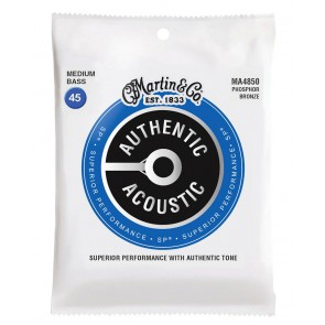 Martin Authentic Acoustic SP Bass string set, 92/8 phosphor bronze, medium, 045-065-085-105