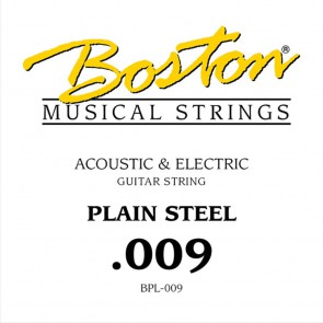 Boston .009 snaar, plain steel
