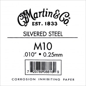 Martin Traditional Series 010 string, silvered plain steel