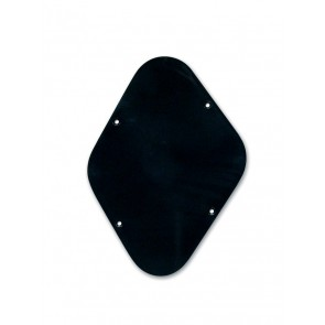 Back plate, potmeters cavity, black, 1 ply, LP-model