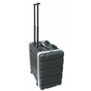 ABS Rackmount Case 6 HE Trolley