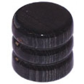 Dome Knob Wood Black