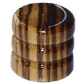 Dome Knob Wood Zebra