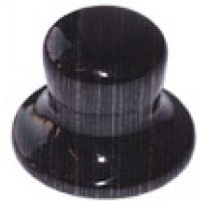 Hat Knob Wood Black