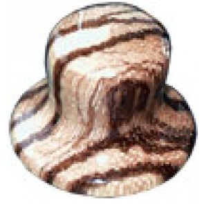 Hat Knob Wood Zebra