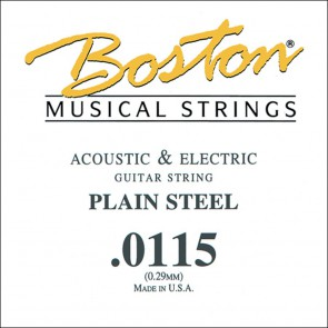 Boston .0115 snaar, plain steel