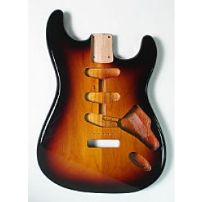 Body Strat-model SSS 3-tone Sunburst finish