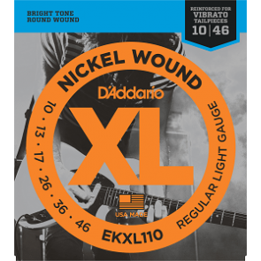 D'Addario XL Nickel Round Wound snarenset elektrisch, regular light, 010-013-017-026-036-046  EKXL110  Light /soldered