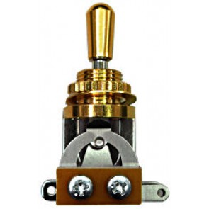 Toggle Switch 3 weg, gold