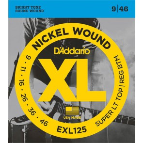 D'Addario XL Nickel Round Wound snarenset elektrisch, super light top heavy bottom, 009-011-016-026-036-046
