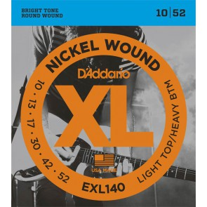D'Addario XL Nickel Round Wound snarenset elektrisch, light top heavy bottom, 010-013-017-030-042-052