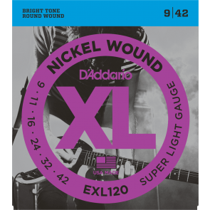 D'Addario XL Nickel Round Wound snarenset elektrisch, super light, 009-011-016-024-032-042