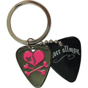 GA  Broken Heart Metal Keyring