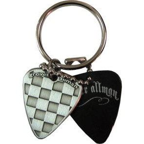 GA  Checker Metal Keyring
