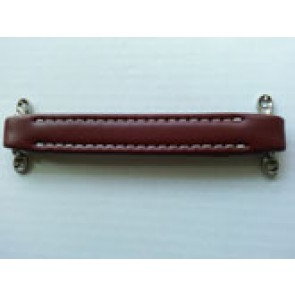 Handle Dog Bone Leather Red